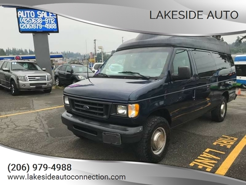 2003 Ford E-Series Wagon for sale at Lakeside Auto in Lynnwood WA