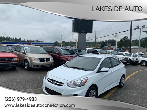 2016 Hyundai Accent for sale at Lakeside Auto in Lynnwood WA
