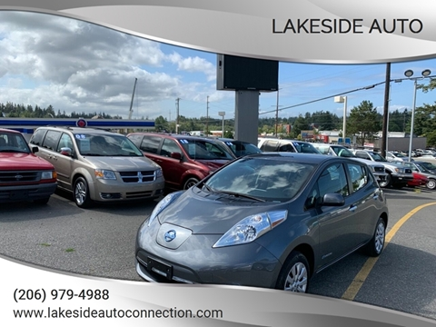 2016 Nissan LEAF for sale at Lakeside Auto in Lynnwood WA