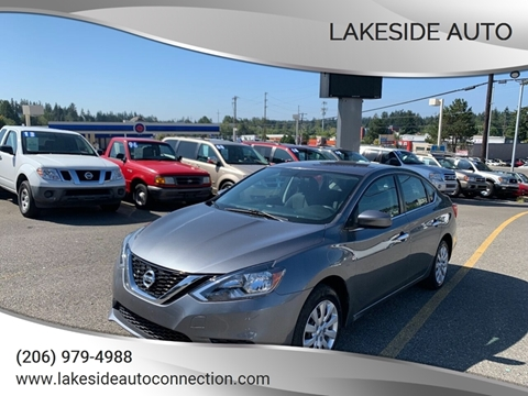 2016 Nissan Sentra for sale at Lakeside Auto in Lynnwood WA