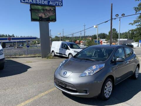 2017 Nissan LEAF for sale at Lakeside Auto in Lynnwood WA