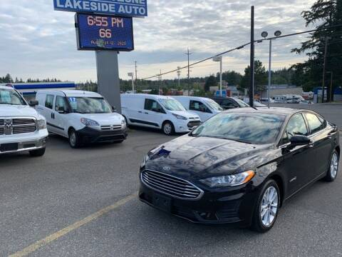 2019 Ford Fusion Hybrid for sale at Lakeside Auto in Lynnwood WA