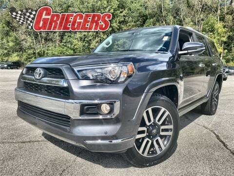 2018 Toyota 4Runner for sale at GRIEGER'S MOTOR SALES CHRYSLER DODGE JEEP RAM in Valparaiso IN