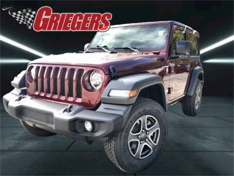 2021 Jeep Wrangler for sale at GRIEGER'S MOTOR SALES CHRYSLER DODGE JEEP RAM in Valparaiso IN