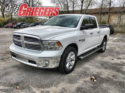 2017 RAM Ram Pickup 1500 for sale at GRIEGER'S MOTOR SALES CHRYSLER DODGE JEEP RAM in Valparaiso IN