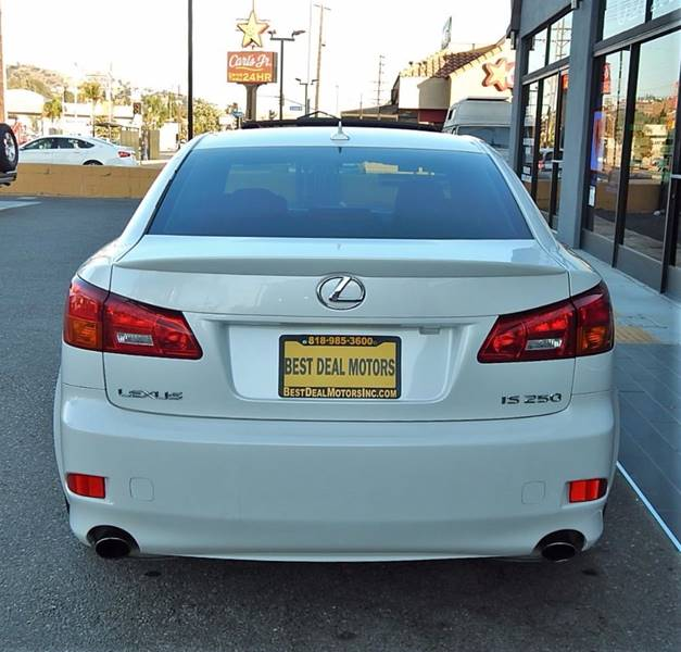 2008 Lexus IS 250 for sale at BEST DEAL MOTORS INC. CARS AND TRUCKS FOR SALE in Sun Valley, CA