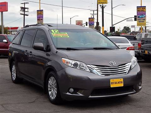 2012 Toyota Sienna for sale at BEST DEAL MOTORS INC. CARS AND TRUCKS FOR SALE in Sun Valley, CA
