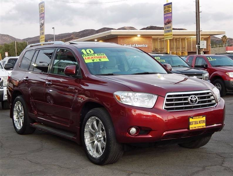 2010 Toyota Highlander for sale at BEST DEAL MOTORS INC. CARS AND TRUCKS FOR SALE in Sun Valley, CA