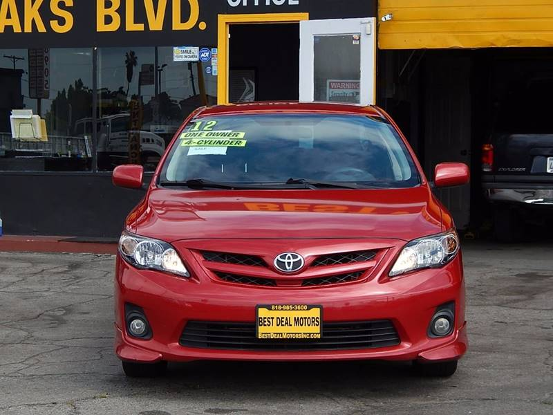 2012 Toyota Corolla for sale at BEST DEAL MOTORS INC. CARS AND TRUCKS FOR SALE in North Hollywood , Los Angeles CA