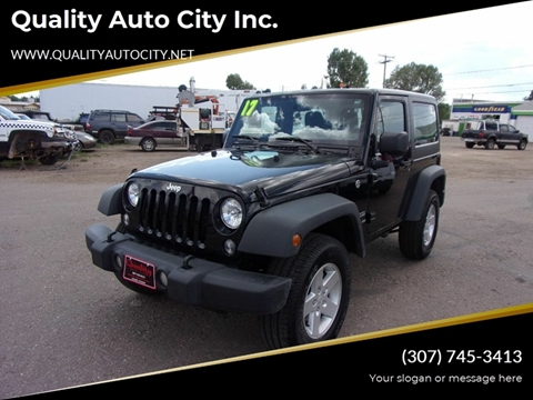2017 Jeep Wrangler for sale at Quality Auto City Inc. in Laramie WY
