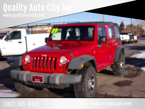 2009 Jeep Wrangler Unlimited for sale at Quality Auto City Inc. in Laramie WY