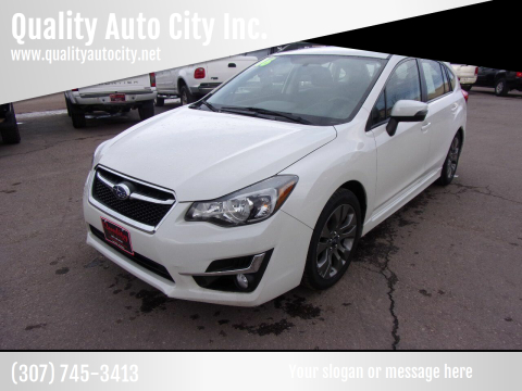 2016 Subaru Impreza for sale at Quality Auto City Inc. in Laramie WY