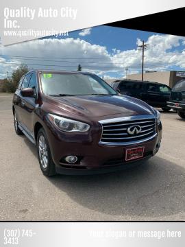 2013 Infiniti JX35 for sale at Quality Auto City Inc. in Laramie WY