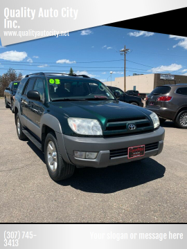 2003 Toyota 4Runner for sale at Quality Auto City Inc. in Laramie WY