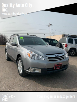 2010 Subaru Outback for sale at Quality Auto City Inc. in Laramie WY