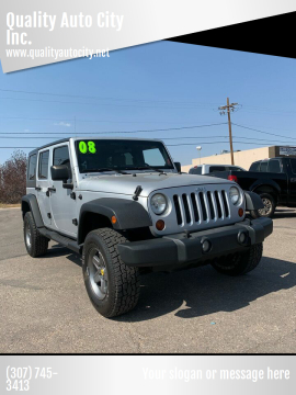 2008 Jeep Wrangler Unlimited for sale at Quality Auto City Inc. in Laramie WY
