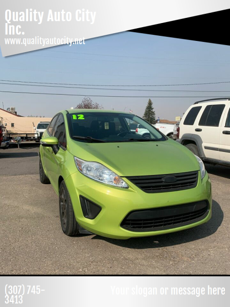 2012 Ford Fiesta for sale at Quality Auto City Inc. in Laramie WY