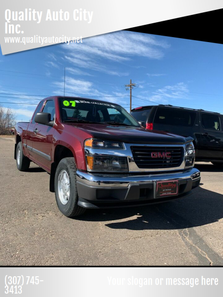 2007 GMC Canyon for sale at Quality Auto City Inc. in Laramie WY