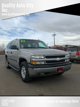 2005 Chevrolet Tahoe for sale at Quality Auto City Inc. in Laramie WY