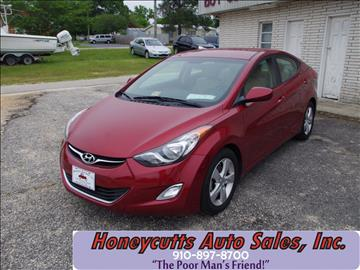 2013 Hyundai Elantra for sale at Honeycutt's Auto Sales, Inc. in Coats NC