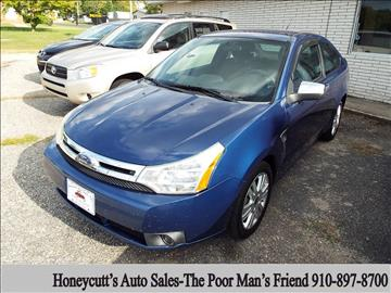 2008 Ford Focus for sale at Honeycutt's Auto Sales, Inc. in Coats NC