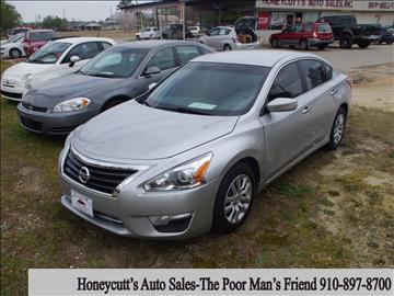 2013 Nissan Altima for sale at Honeycutt's Auto Sales, Inc. in Coats NC