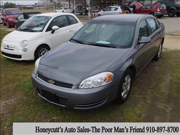 2008 Chevrolet Impala for sale at Honeycutt's Auto Sales, Inc. in Coats NC
