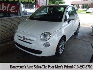 2013 FIAT 500 for sale at Honeycutt's Auto Sales, Inc. in Coats NC