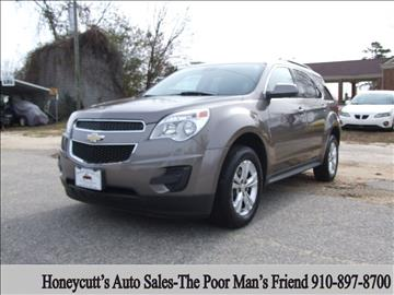 2012 Chevrolet Equinox for sale at Honeycutt's Auto Sales, Inc. in Coats NC