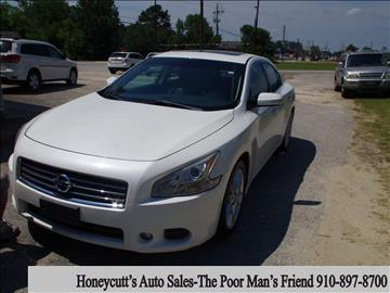 2010 Nissan Maxima for sale at Honeycutt's Auto Sales, Inc. in Coats NC