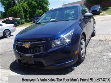 2011 Chevrolet Cruze for sale at Honeycutt's Auto Sales, Inc. in Coats NC