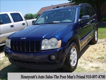 2005 Jeep Grand Cherokee for sale at Honeycutt's Auto Sales, Inc. in Coats NC