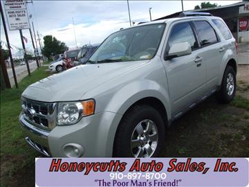2009 Ford Escape for sale at Honeycutt's Auto Sales, Inc. in Coats NC