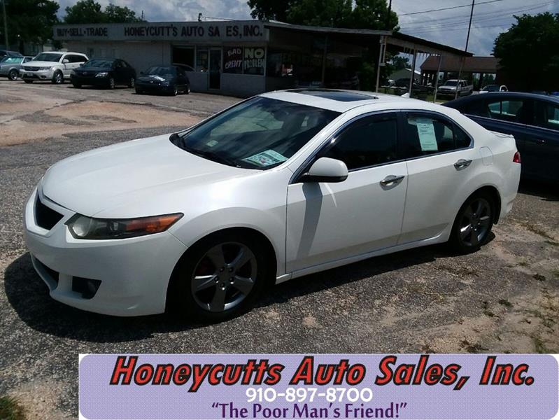 2009 Acura TSX for sale at Honeycutt's Auto Sales, Inc. in Coats NC
