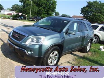 2009 GMC Acadia for sale at Honeycutt's Auto Sales, Inc. in Coats NC