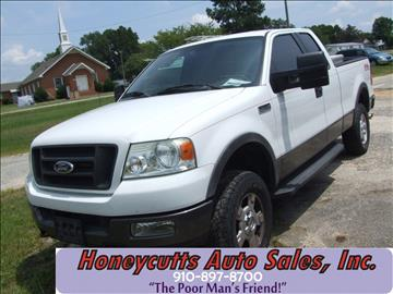 2005 Ford F-150 for sale at Honeycutt's Auto Sales, Inc. in Coats NC