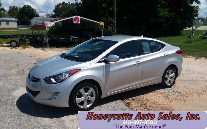 2012 Hyundai Elantra for sale at Honeycutt's Auto Sales, Inc. in Coats NC