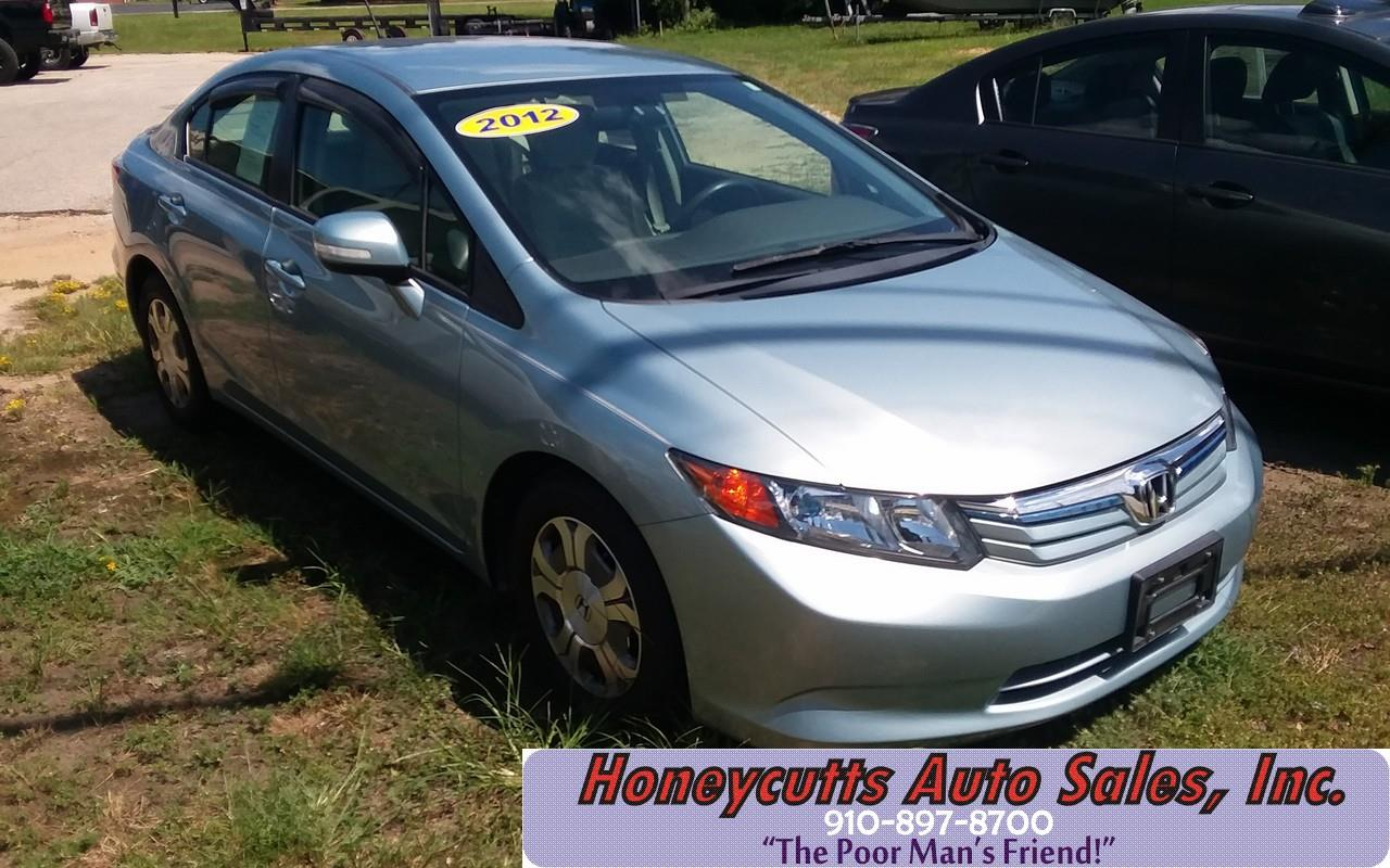 2012 Honda Civic for sale at Honeycutt's Auto Sales, Inc. in Coats NC