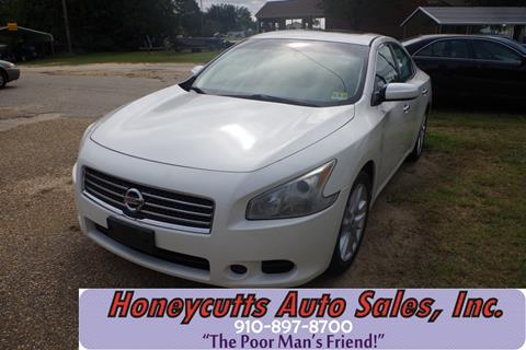 2009 Nissan Maxima for sale at Honeycutt's Auto Sales, Inc. in Coats NC