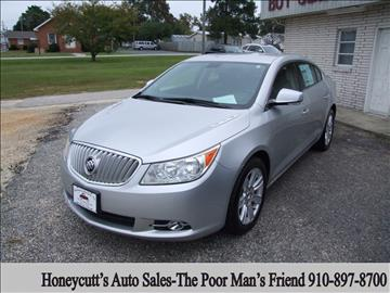 2012 Buick LaCrosse for sale at Honeycutt's Auto Sales, Inc. in Coats NC