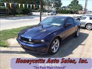 2010 Ford Mustang for sale at Honeycutt's Auto Sales, Inc. in Coats NC
