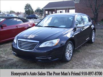 2011 Chrysler 200 for sale at Honeycutt's Auto Sales, Inc. in Coats NC