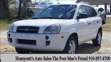 2008 Hyundai Tucson for sale at Honeycutt's Auto Sales, Inc. in Coats NC