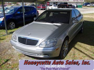 2002 Mercedes-Benz S-Class for sale at Honeycutt's Auto Sales, Inc. in Coats NC