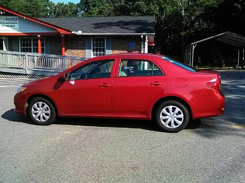 2010 Toyota Corolla for sale at Auto Source  LLC in Acworth GA