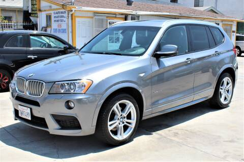 2014 BMW X3 for sale at FJ Auto Sales in North Hollywood CA
