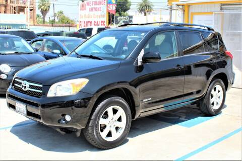 2008 Toyota RAV4 for sale at FJ Auto Sales in North Hollywood CA