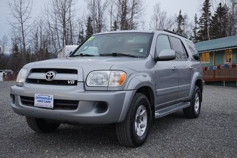 2007 Toyota Sequoia for sale at Dependable Used Cars Valley in Wasilla AK
