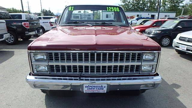 1981 Chevrolet C/K 10 Series for sale at Dependable Used Cars in Anchorage AK