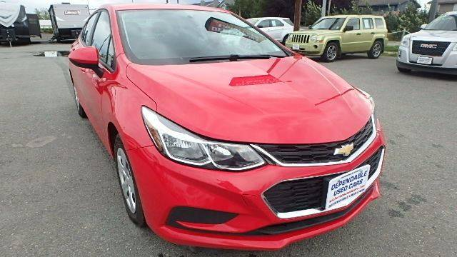 2016 Chevrolet Cruze for sale at Dependable Used Cars in Anchorage AK